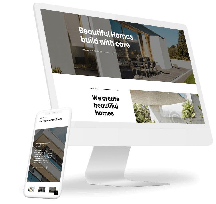 Responsive website development for new home constructions