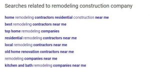 search related to remodeling construction company